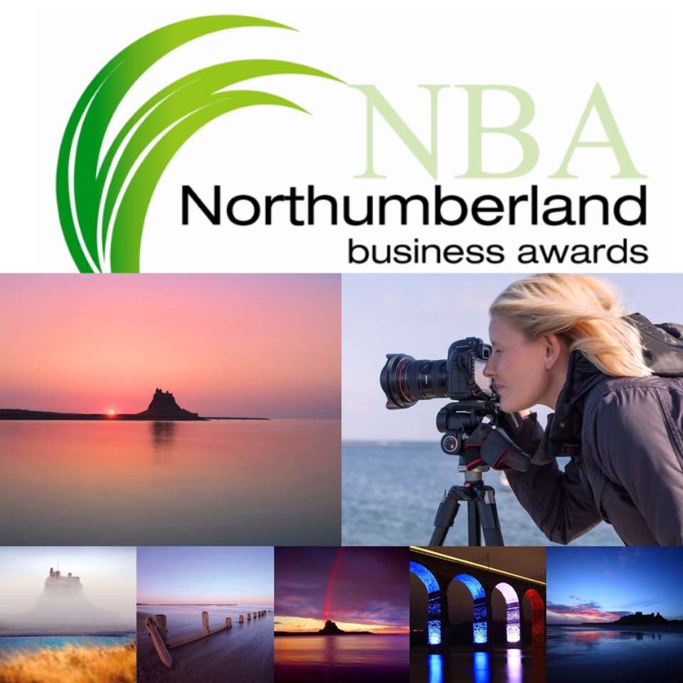 Landscape, Nature & Travel Photographer Emma Rothera nominated for the 'Creative Industries' Northumberland Business Awards 2017.