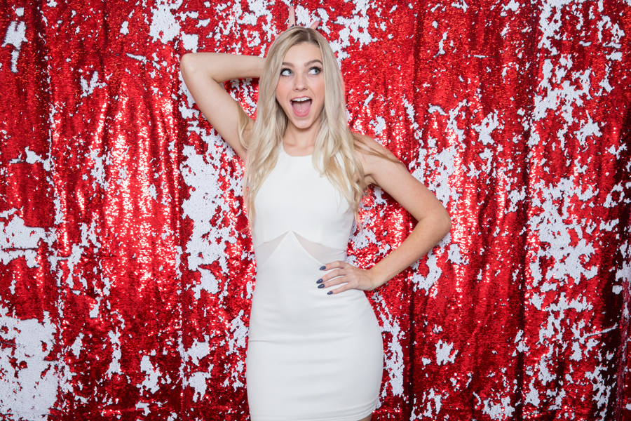 Red + White Sequin