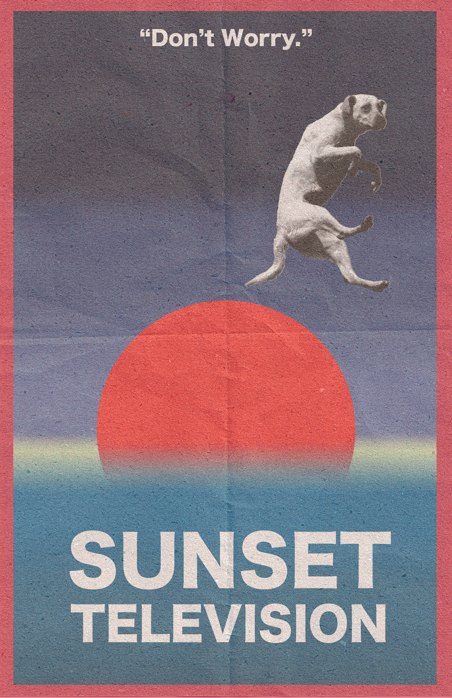 Sunset Television Poster