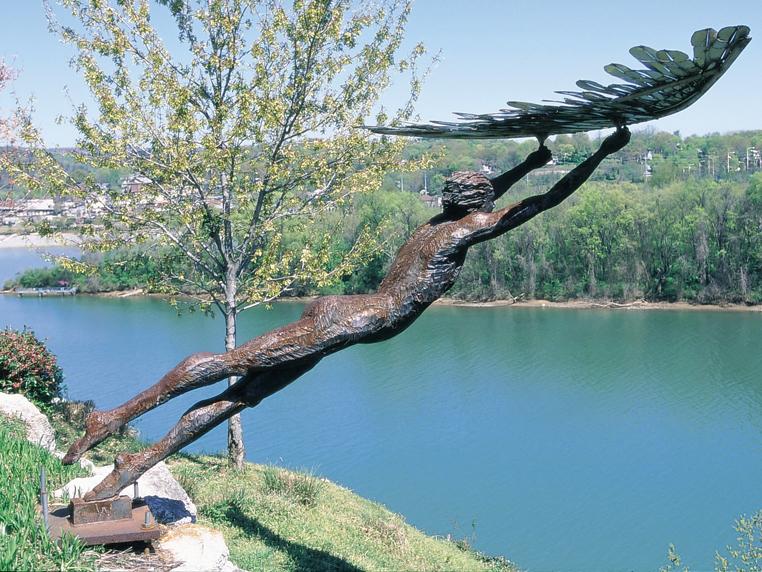 Icarus Statue Sculpture Garden