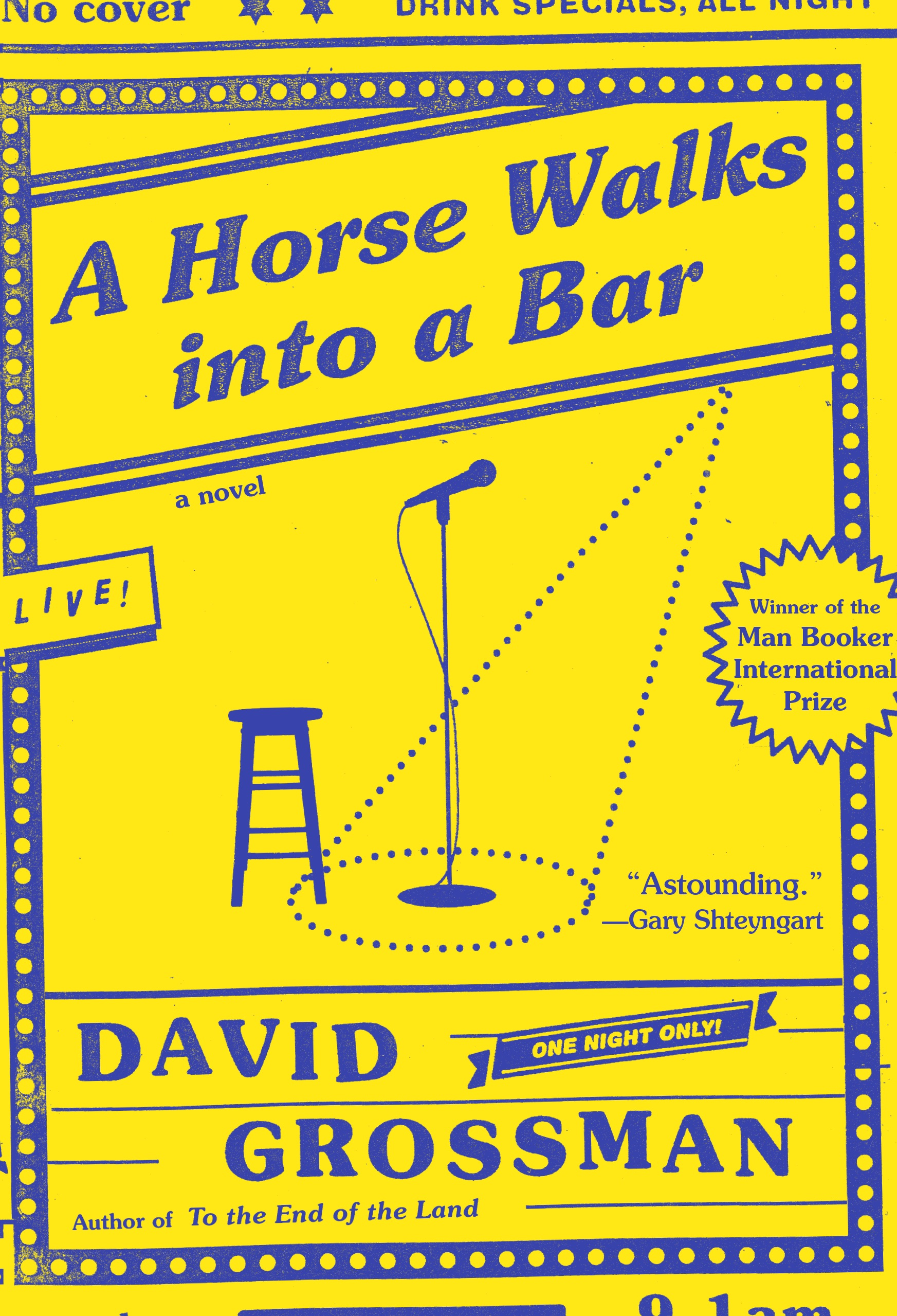 A Horse Walks into a Bar  by David Grossman  Winner of the Man Booker International Prize