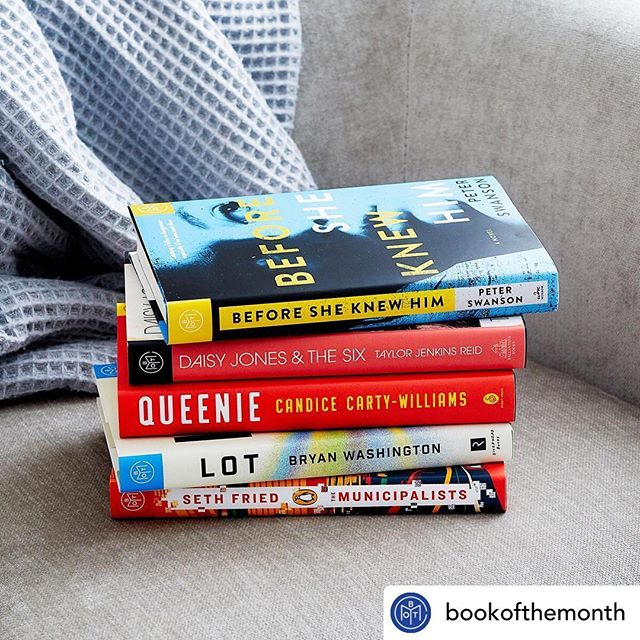 "Well this should be easy. @bry.washing's LOT is being featured by @bookofthemonth this month!! Make sure you select LOT by the 6th! • @withrepost • @bookofthemonth Our five March books are here! This month we're featuring: ""Before She Knew Him"" by Peter Swanson (@petermswanson) ""Daisy Jones & The Six"" by Taylor Jenkins Reid (@tjenkinsreid) ""Queenie"" by Candice Carty-Williams (@candicec_w) ""Lot"" by Bryan Washington (@bry.washing) ""The Municipalists"" by Seth Fried (@seth_fried) • Log in to make your selection or tap the link in our bio to get a free book when you join with code SPRINGFLING. • • • #lot #bookofthemonth #march #2019 #riverhead #monday #choice #bookstagram #book #bookshelf #bookstagrammer"