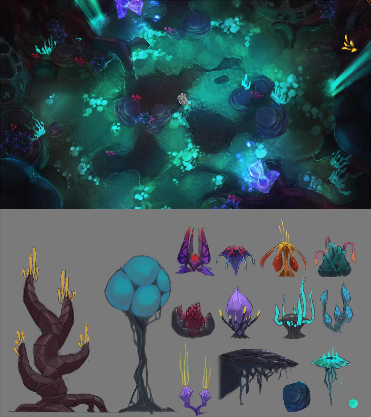 Swamp Concept #2 w/ Plant Breakdown