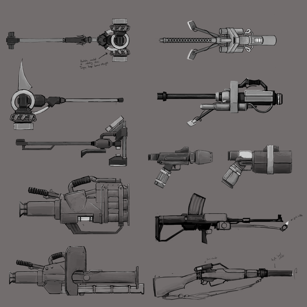 Weapon Concept Sheet #1
