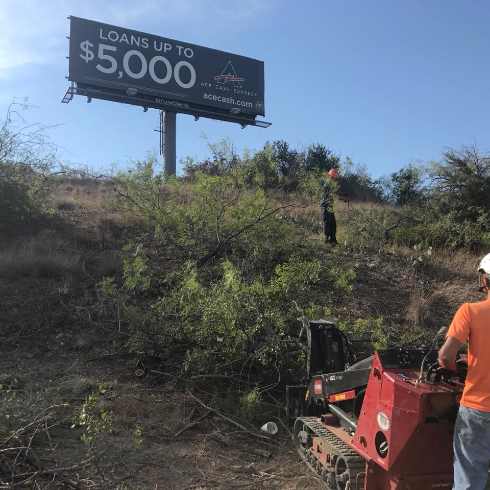Land Clearing - Any type of property clearing & Tree Trimming around billboards