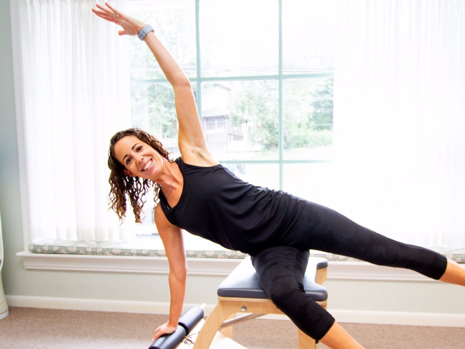 jackie ladden - who: pilates instructor and physical therapisthometown: phillyfavorite class to teach: piFLOWfavorite exercise: curtsey lungeinteresting fact: was introduced to pilates by her mom, as a way to spend time together.