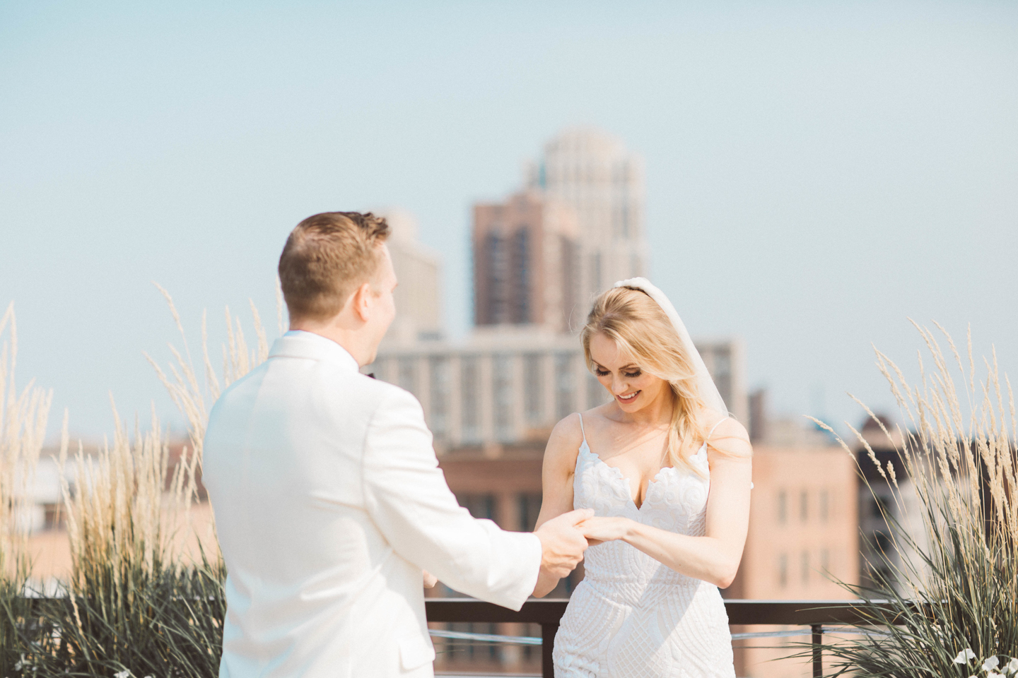 Fine art first look Minneapolis Wedding Photography at the Hewing Hotel