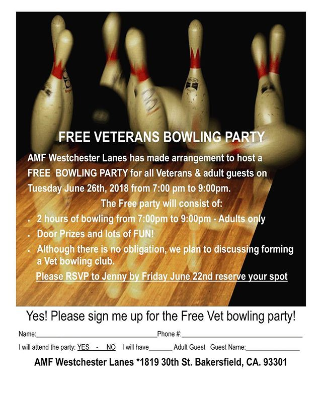 Bowling for Vets!