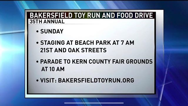 Armed Forces Support Foundation will be out helping the Bakersfield Toy Run. Please support by donating this Sunday!