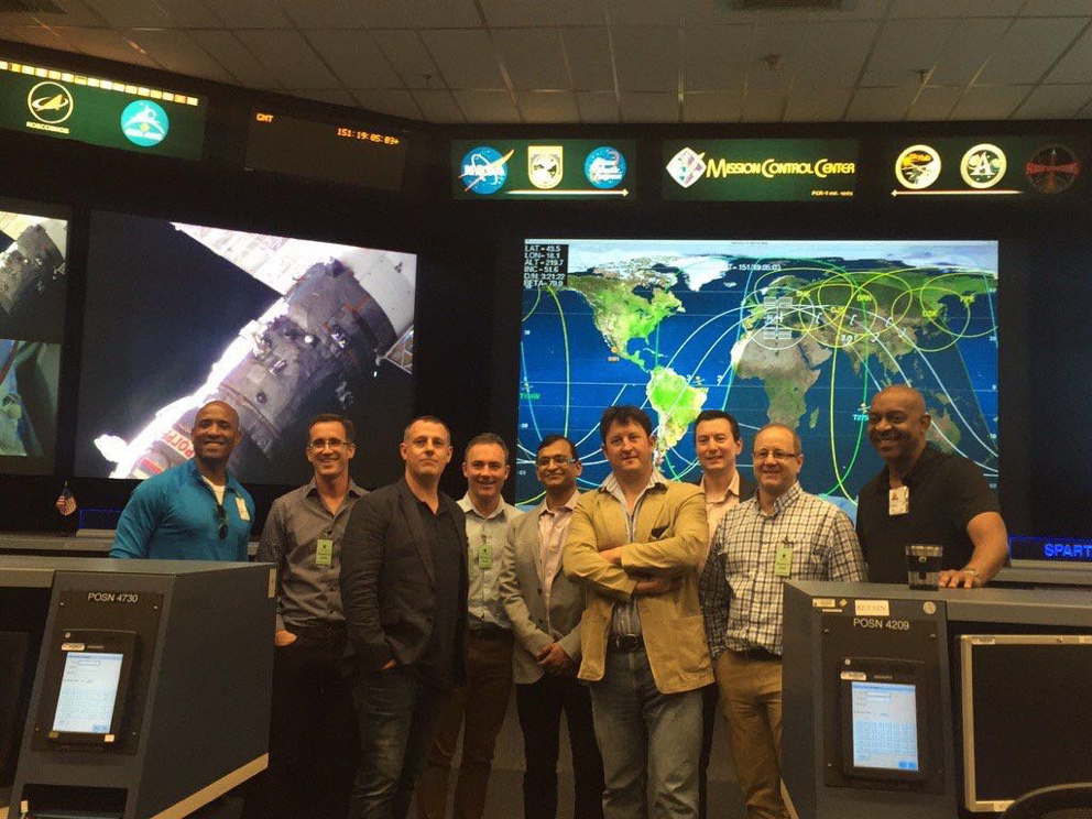 The ABC Fellows 2016 behind the scenes at NASA mission control, Houston.