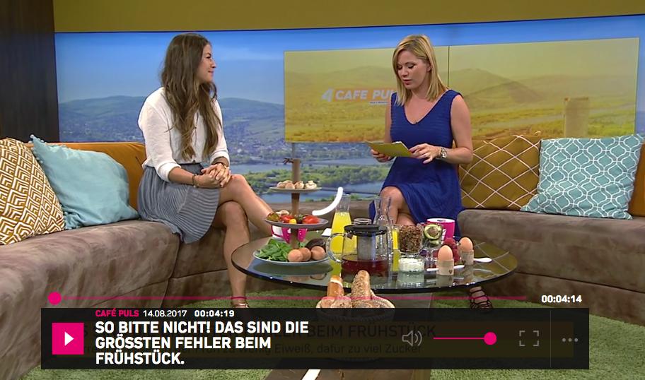 Puls 4  Gesundes Frühstück Verena Hoflehner Health Coach