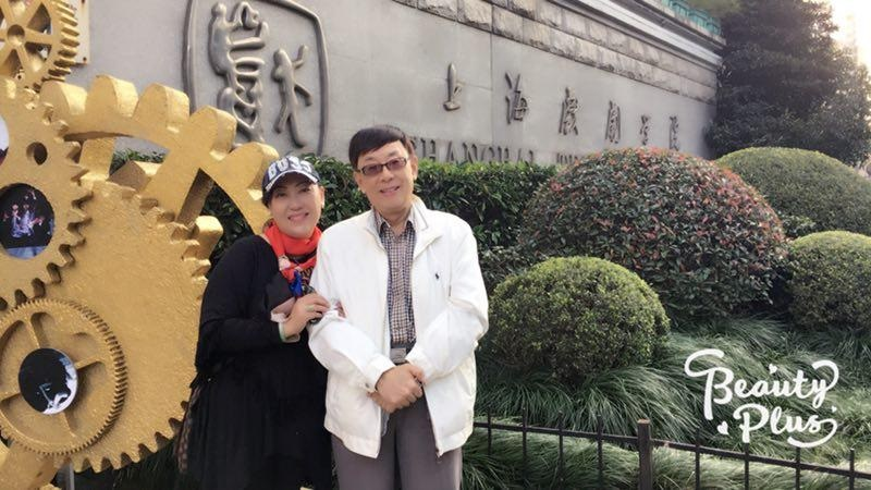 与上海著名高胡演奏家,原上海民族乐团首席,一级演员李肇芳老师在一起