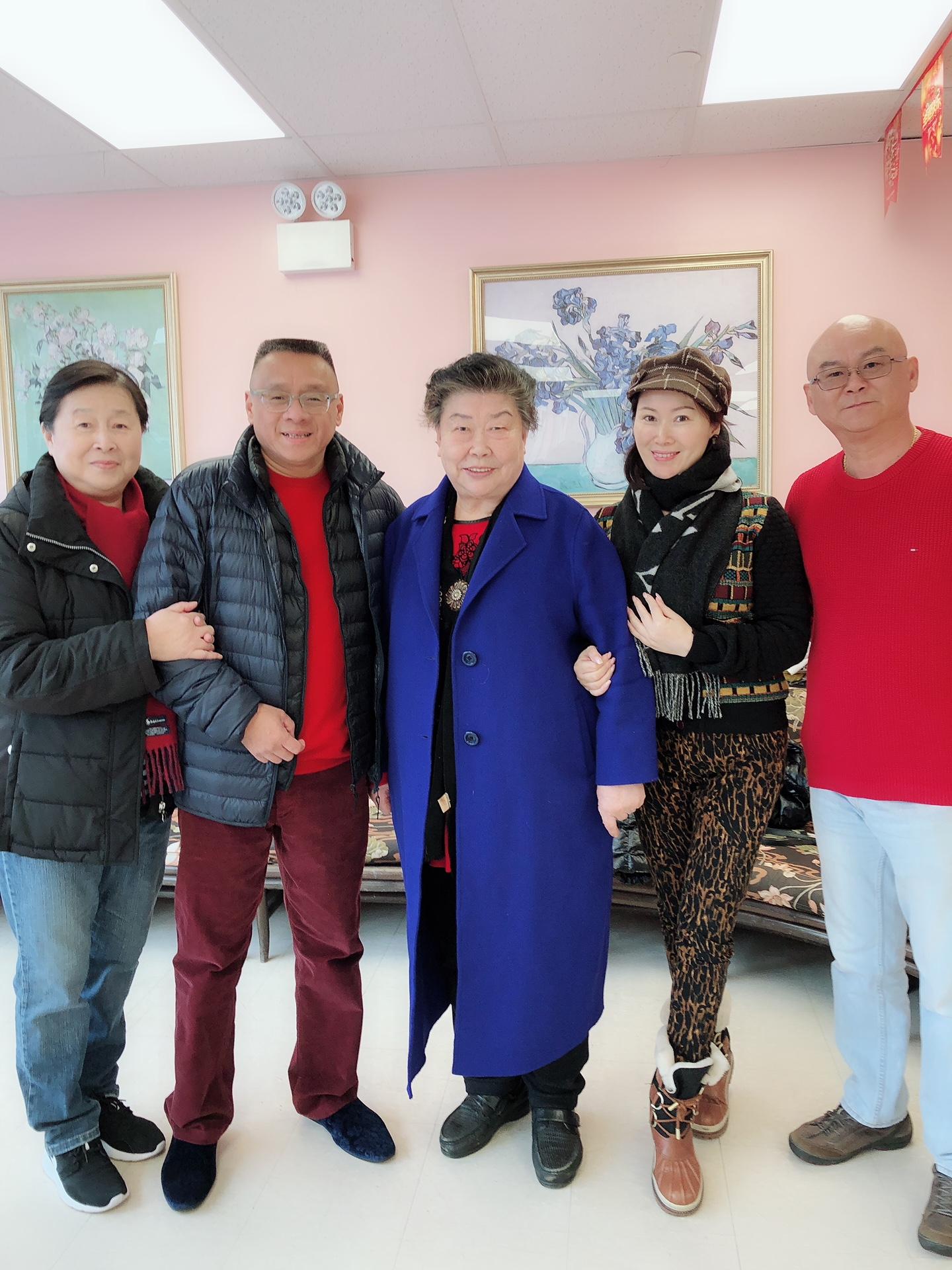 陈师母 (陈新章太太),李愔,承立平(纽约上海联谊会会长),邬素斐,树志明