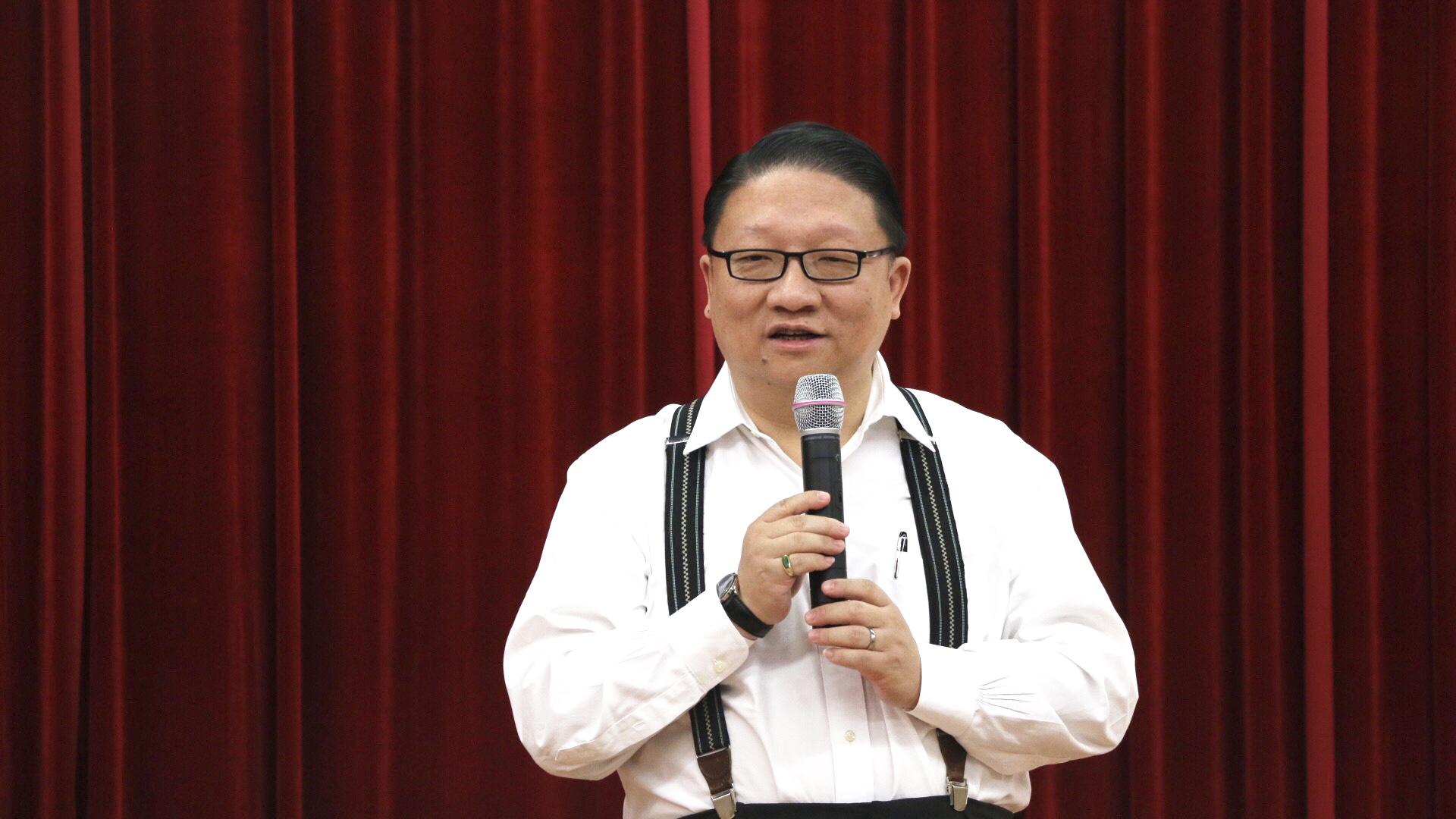 本次大赛共同主席美国鹰龙传媒有限公司总裁、中美电影节主席苏彦韬代表共同主办方预祝本次比赛圆满成功。