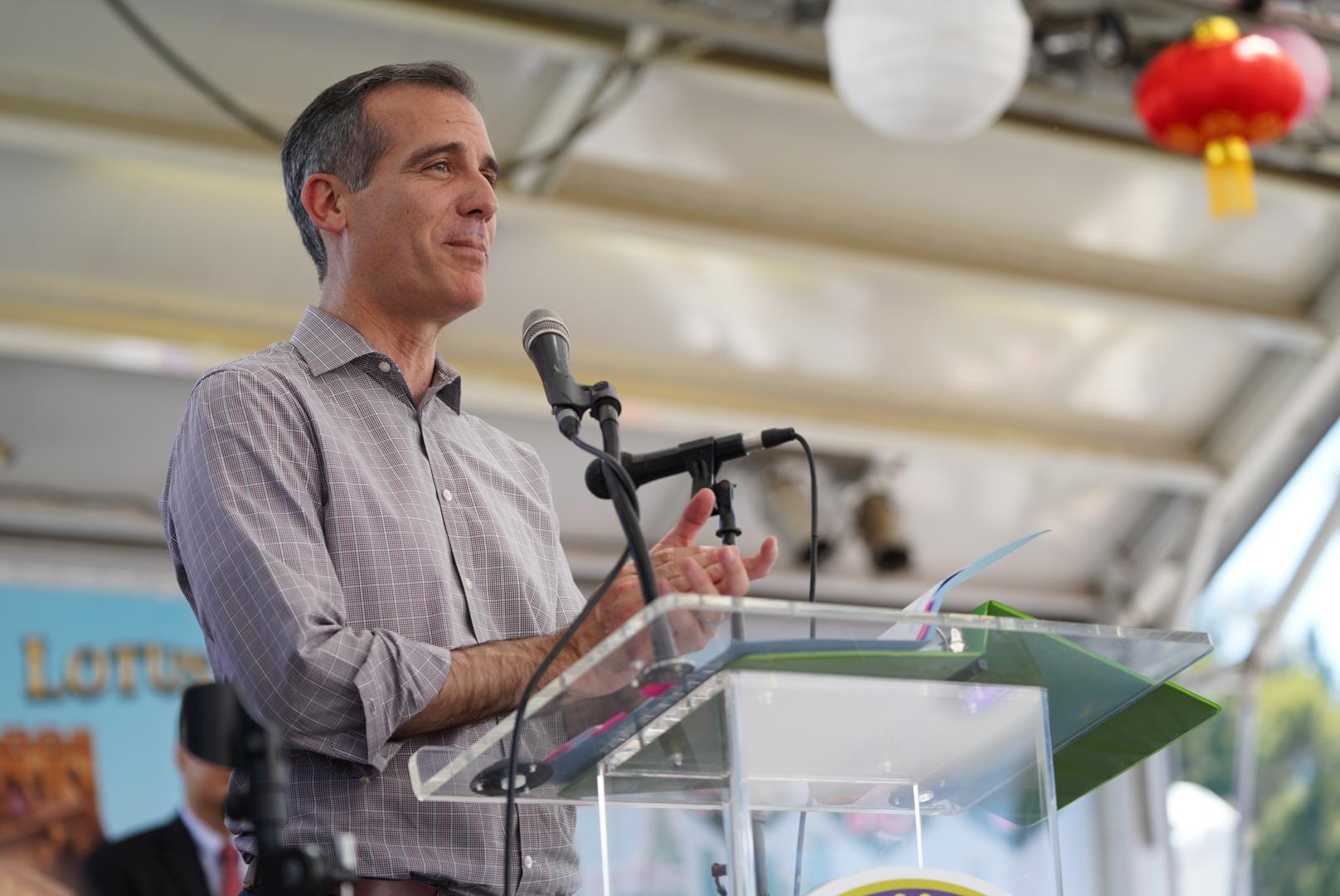 洛杉矶市长 Eric Garcetti致辞