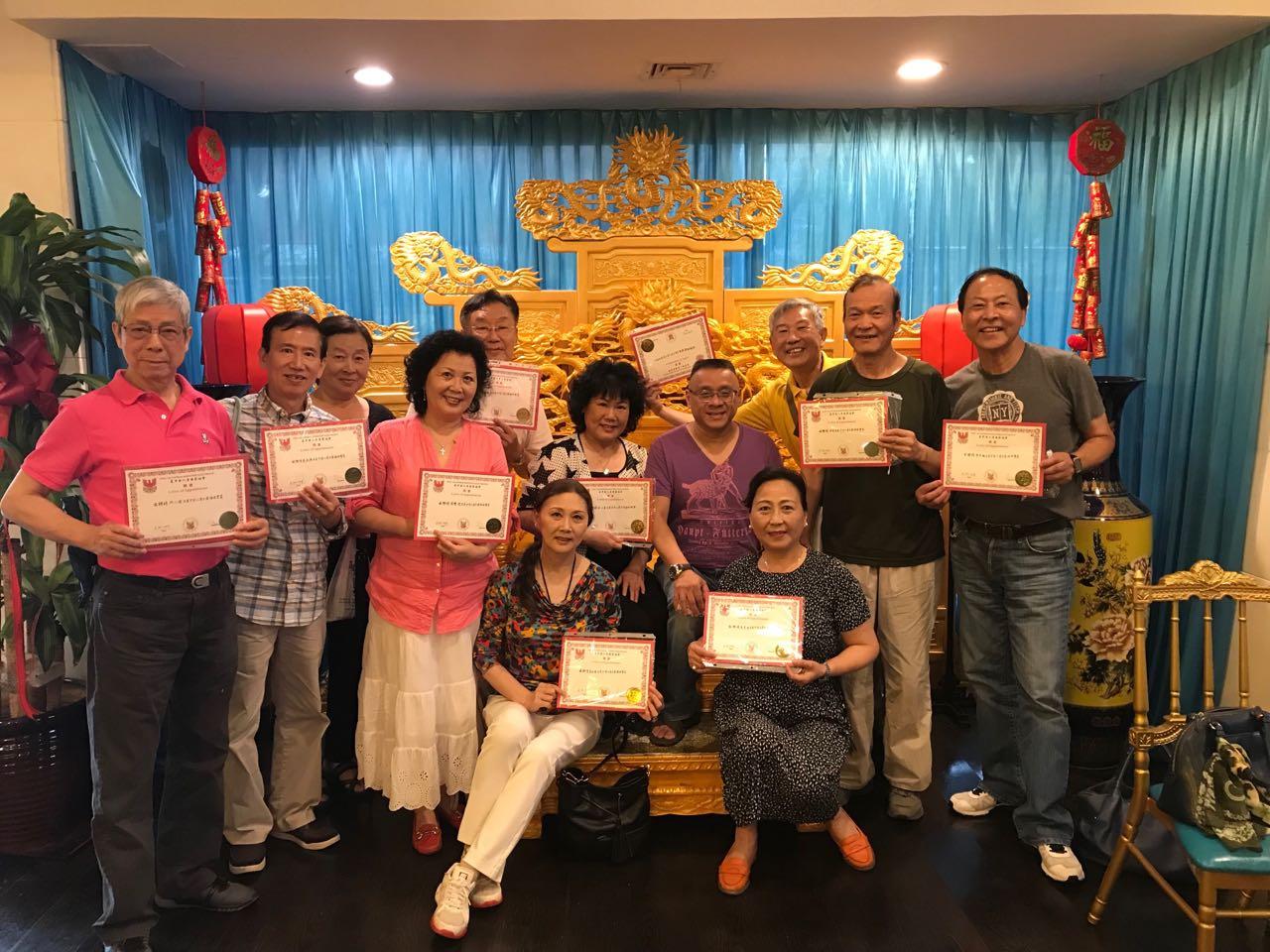 《美中华人音乐家协会》成立周年庆祝会( 纽约部分成员 2019 - 6 - 25 )