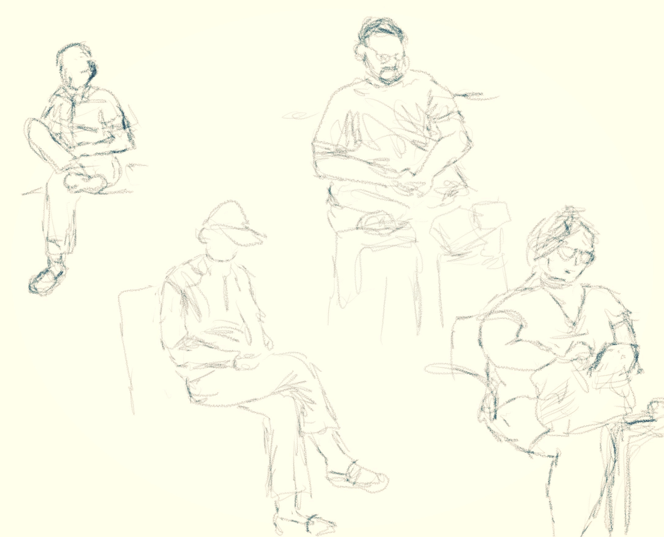 I did all of them on iPad Pro with Apple Pencil on Procreate.