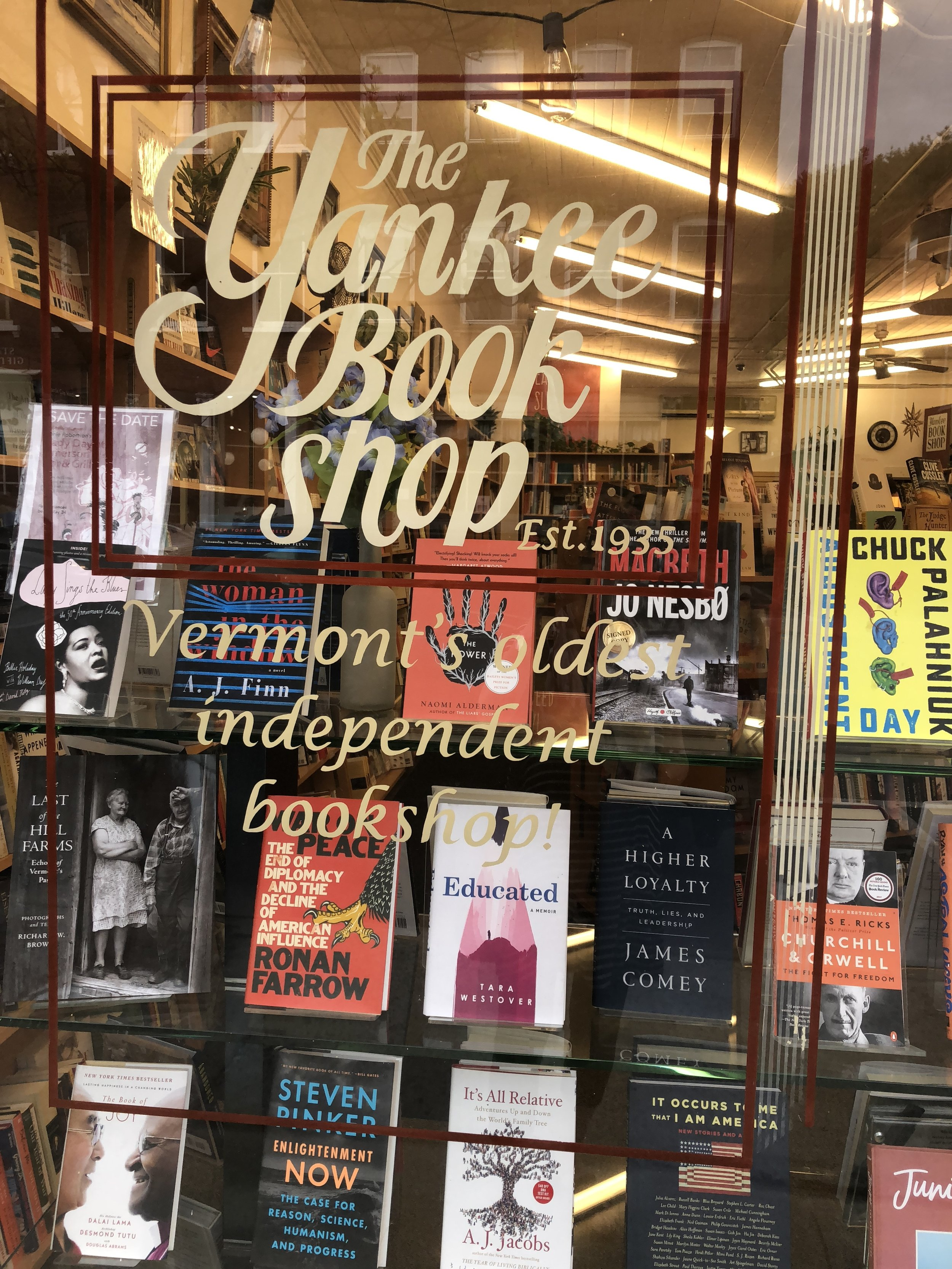 We are collecting independent bookstore like this one in Woodstock, VT.