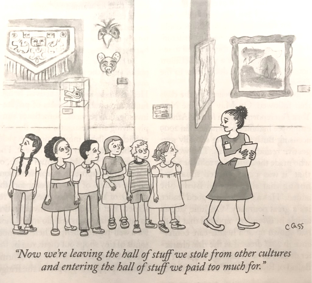 A  New Yorker  cartoon. Photo by Andrew Goldstein, faithful subscriber.