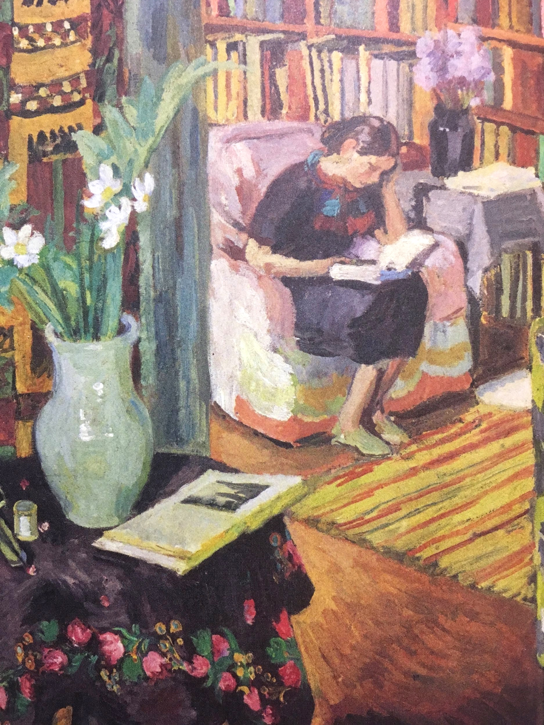 Vanessa Bell,  Interior with Artist's Daughter , 1936, from The Art of Reading