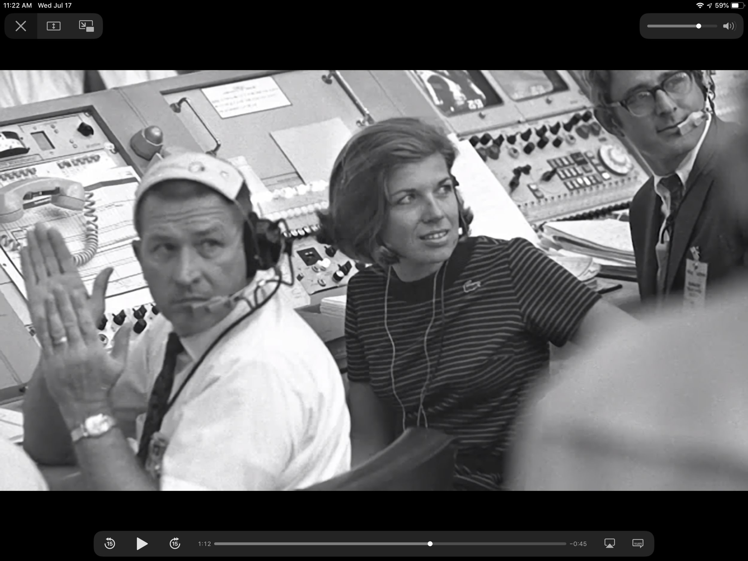 Margaret Hamilton, the only woman in the control room for the landing of Apollo 11.