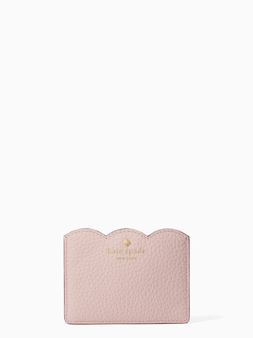 new products 6c9be 0f988 Kate Spade Leewood Place Card Holder Pink Granite PWRU5382-971