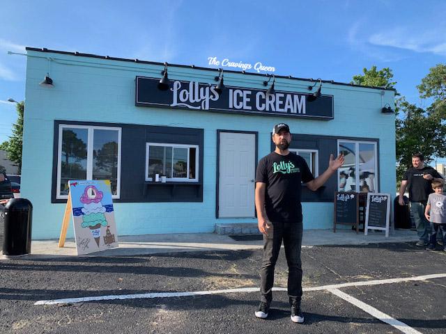 Lolly's Ice Cream owner Joey Launi