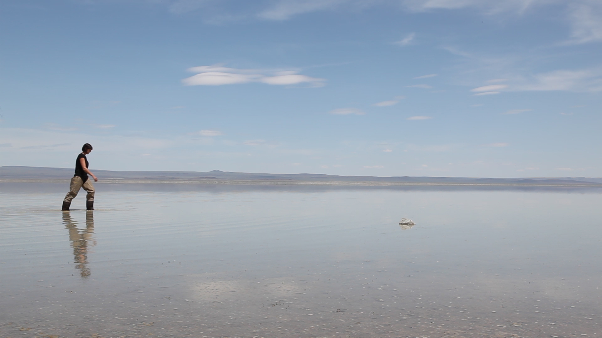 Still from the video  Entering into the Landscape , 2017