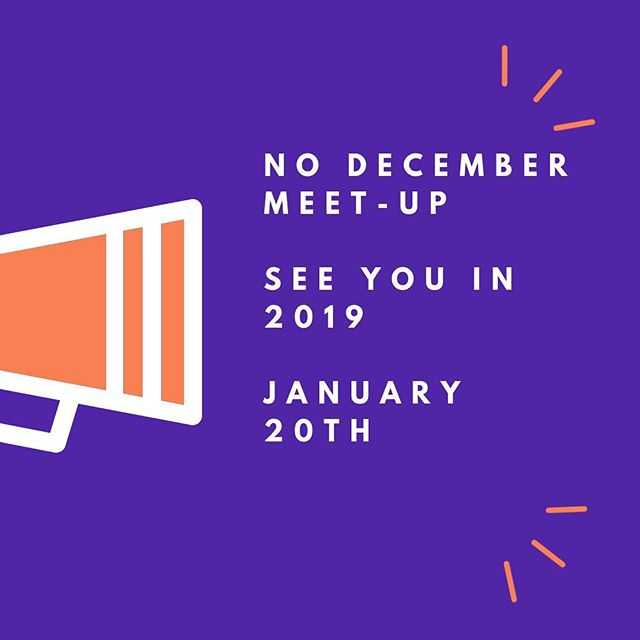 We are not meeting tonight! See in January 2019 #creativecrewrwc