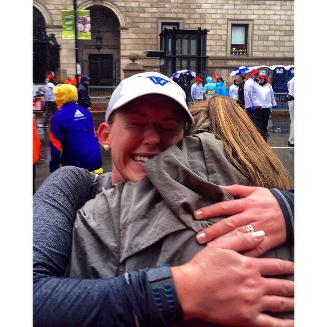 One of my best friends found me at the finish line. Crying actual tears of pain and relief.
