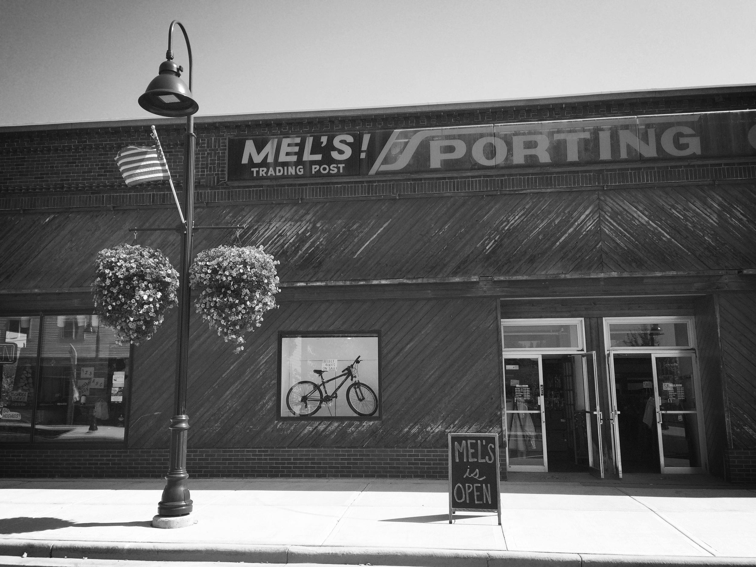 MEL'S historical storefront downtown Rhinelander.