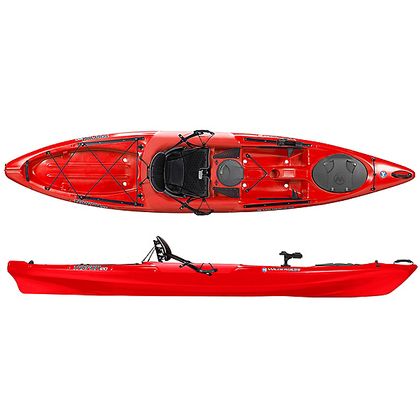 Fishing Kayak - The increases stability allows for the angler to stand up and fish on the kayak. These kayaks provide a considerable space for storage inside their hulls which allow the angler to stow rods, fishing gear, batteries for fish finders, extra paddles, anchors, and wheels to tow the kayak from vehicle to the water.