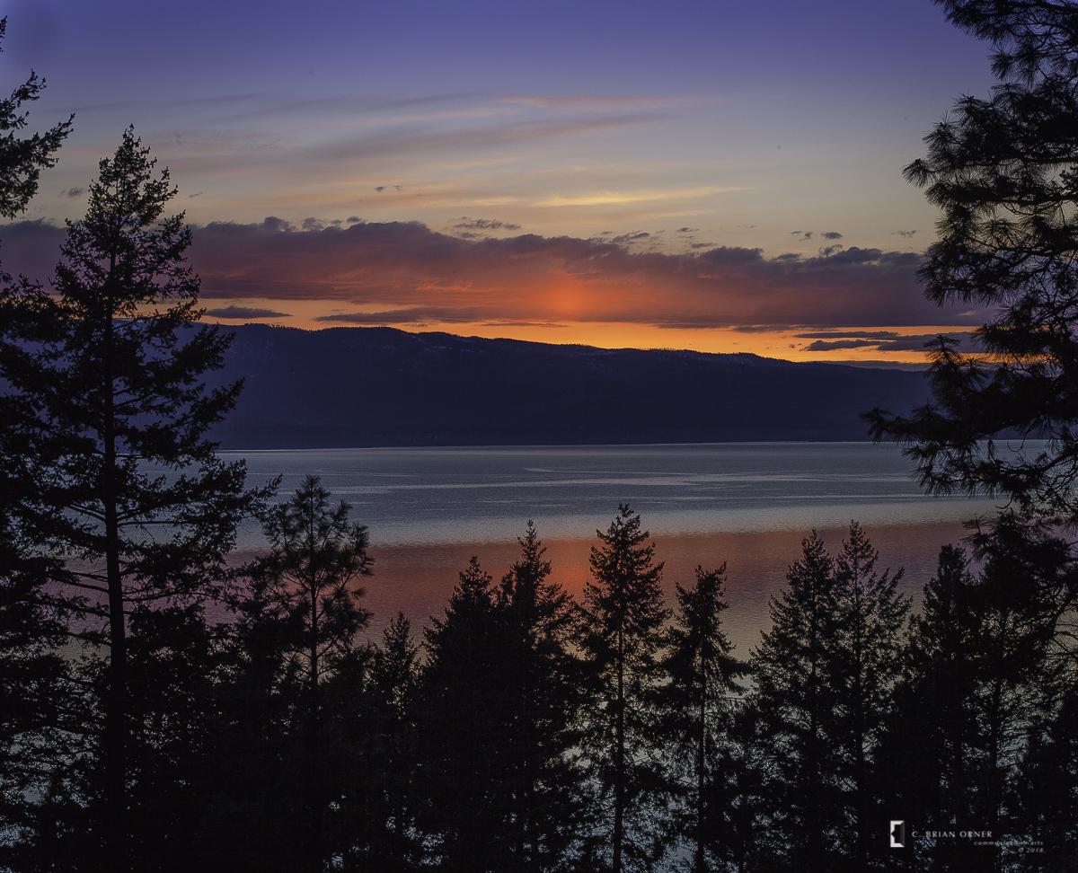 Spring Sunset, Flathead Lake, MT