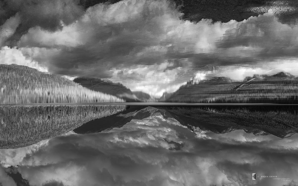 Bowman Lake in Black and White.jpg