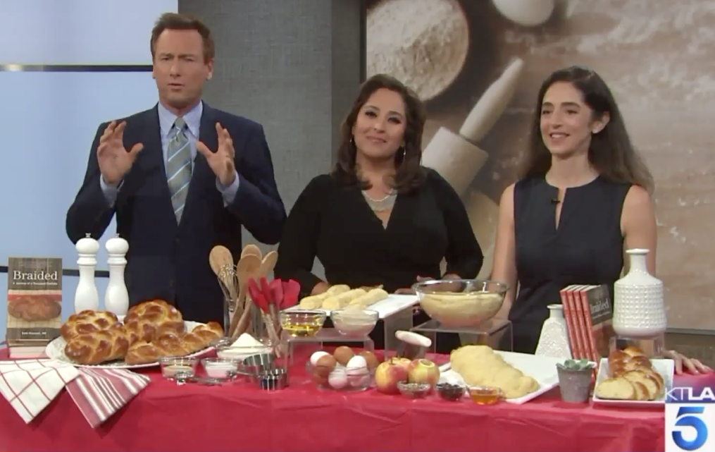 Dr Beth Ricanati shares how baking challah baking can be a tool for wellness on KTLA Weekend Morning News on September 16, 2018.