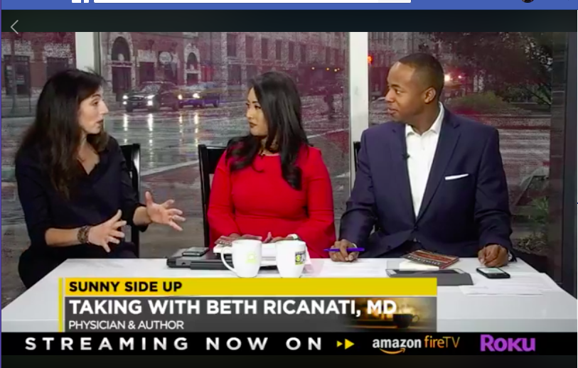 Dr. Beth Ricanati shares with Sunny Side Up (Cleveland19) anchors how making challah has become her meaningful ritual.