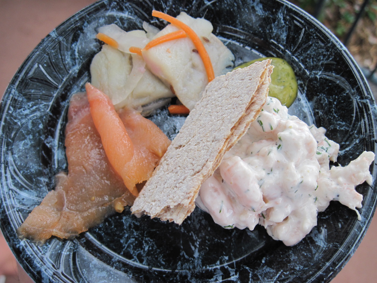 Taste of Scandinavia: Shrimp Salad, Cured Salmon, and Herring
