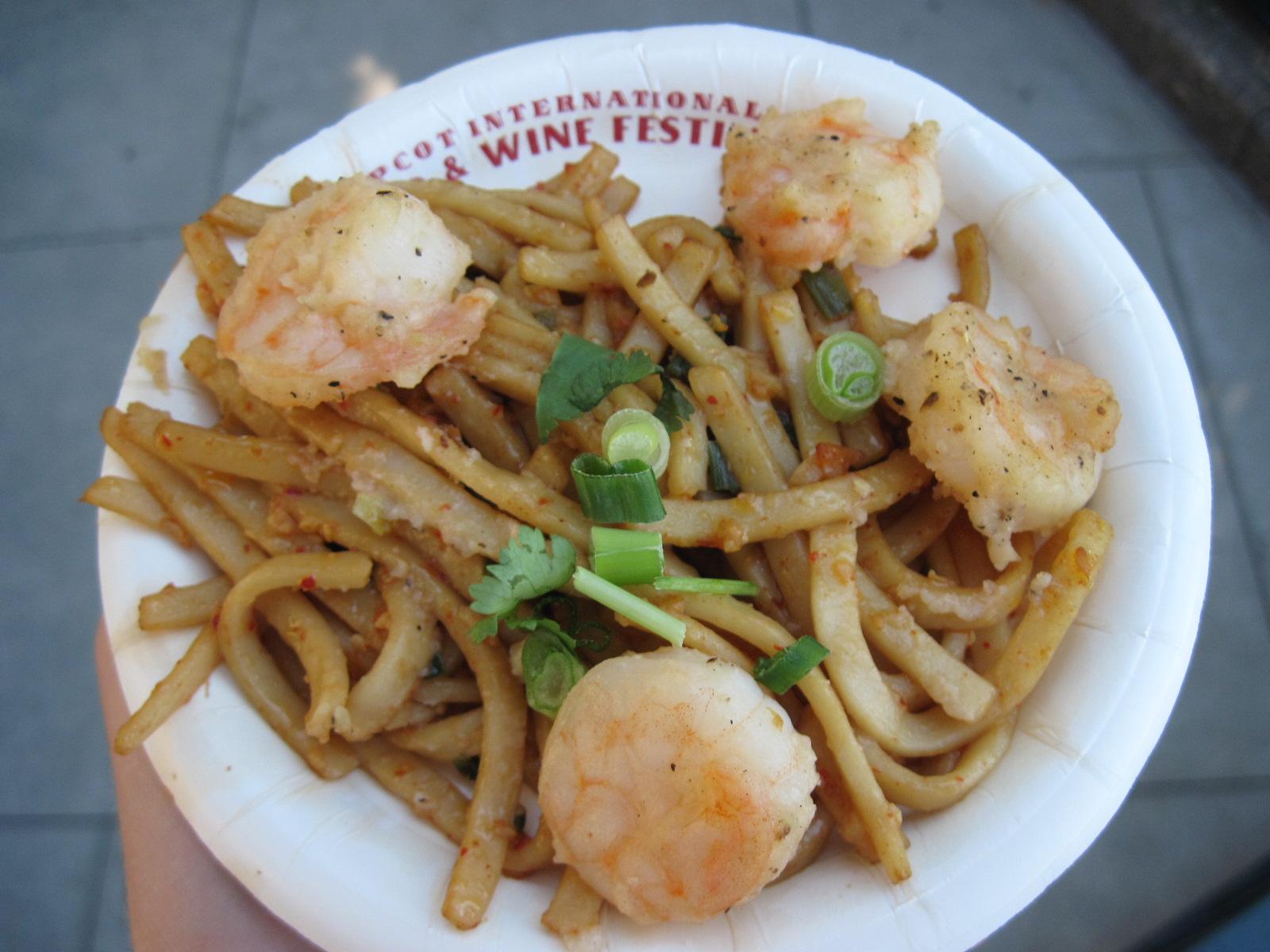 Black Pepper Shrimp with Sichuan Noodles-China