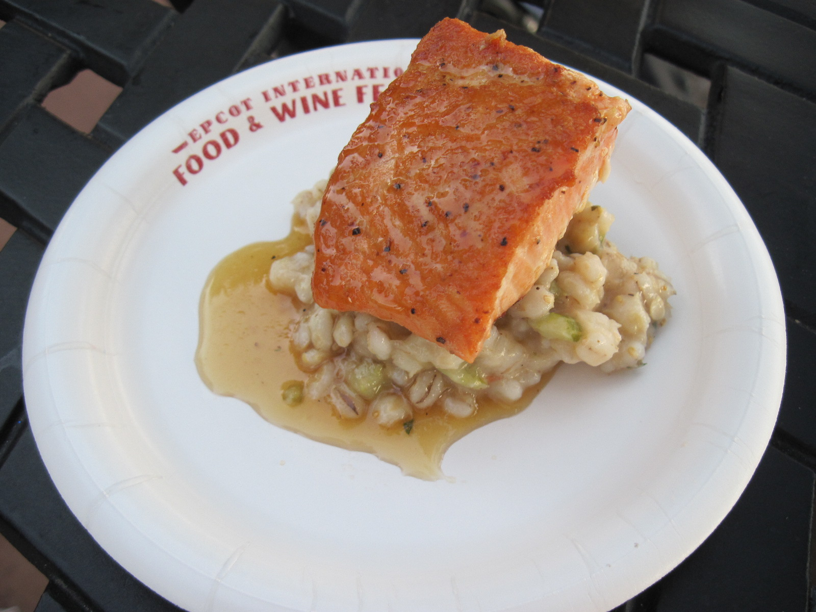 Maple and Beer-Glazed Salmon with Barley Salad-Canada