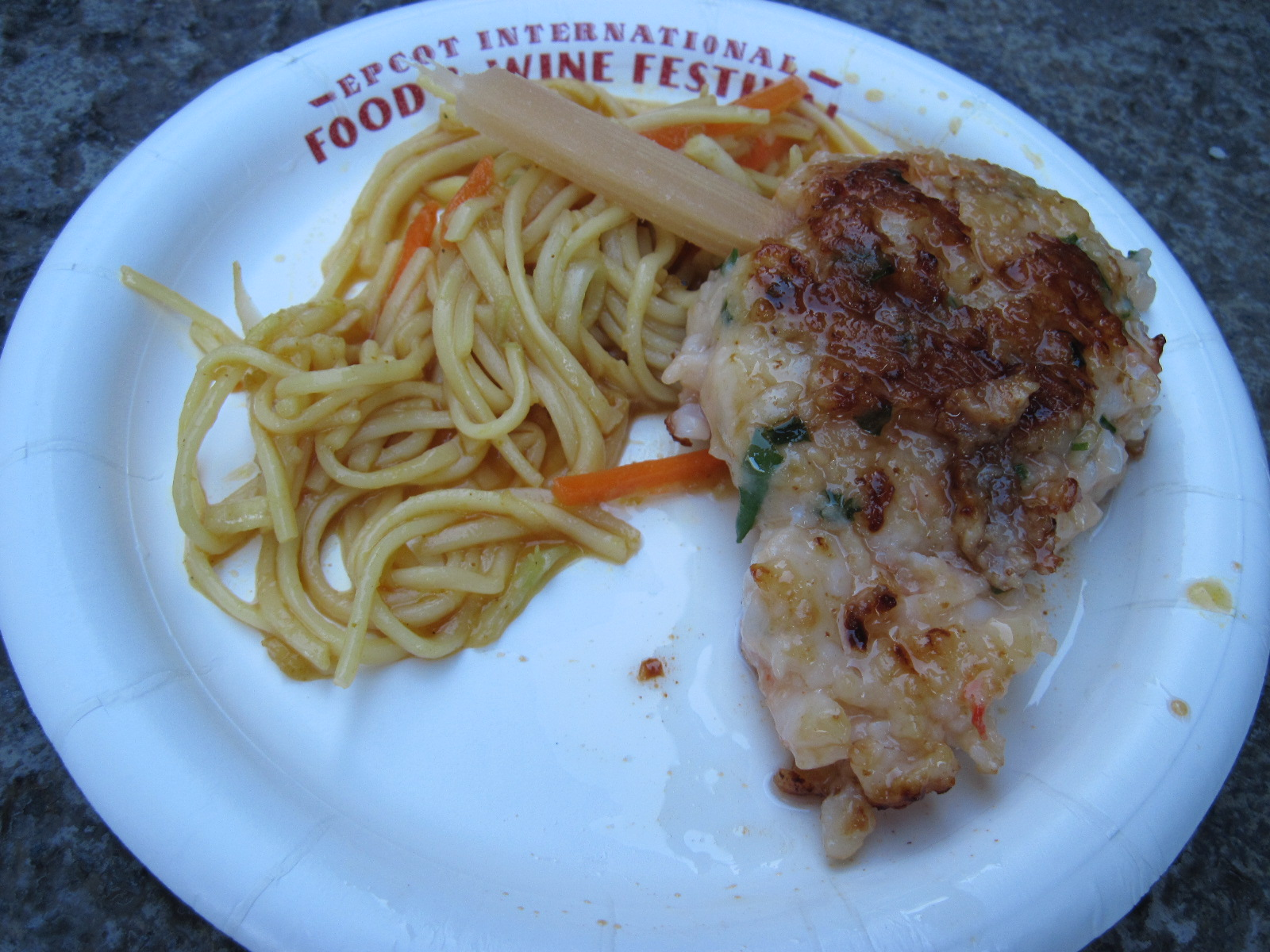 Shrimp Cake with Singapore Noodles-Singapore