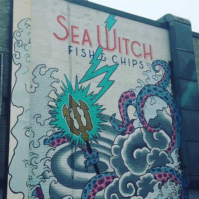What to do on a rainy day? Definitely grab some fish and chips from the best shop in the city! @seawitchfc  Located right near @wychwoodbarns , it's the best place for a pre/post show meal! Stop by @yourdancefest next weekend to win a gift card for their fine fare in our raffle!  #ydf2019 #dance #danceto #dancetoronto #community #communityarts #festivalseason #stclairwest