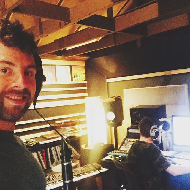If I'm going to be inside on a sunny day like this 🌞 then it's got to be a good reason ...like  laying down some notes with Emancipator in the bat cave. #music #stayinginside #recordingstudio #clarinet #musicproducer #portland #fatbeats