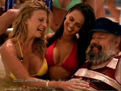 John Ahlin in Hot Tub (Bud Light Ad)