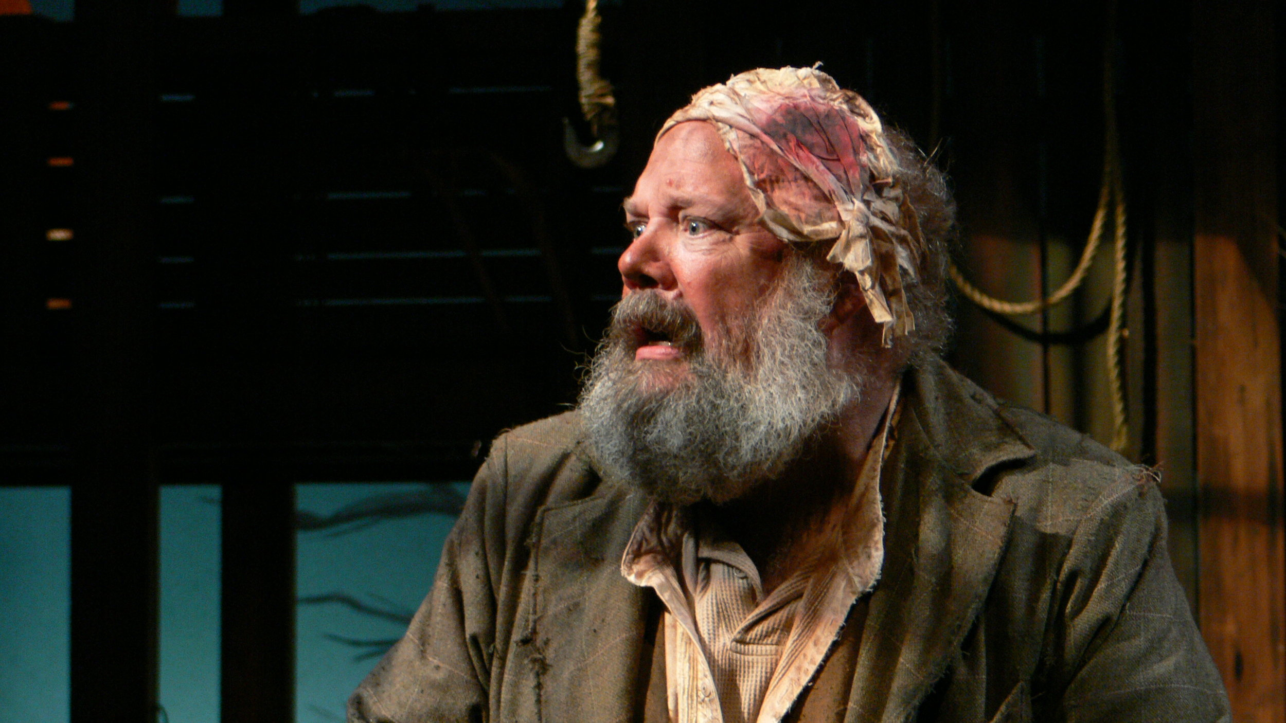 John Ahlin as Old Mahon in Playboy of the Western World