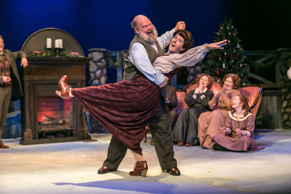 John Ahlin and Clemmie Evans in A Child's Christmas in Wales