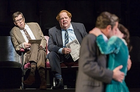 John Ahlin with Robert Stanton in The Real Inspector Hound