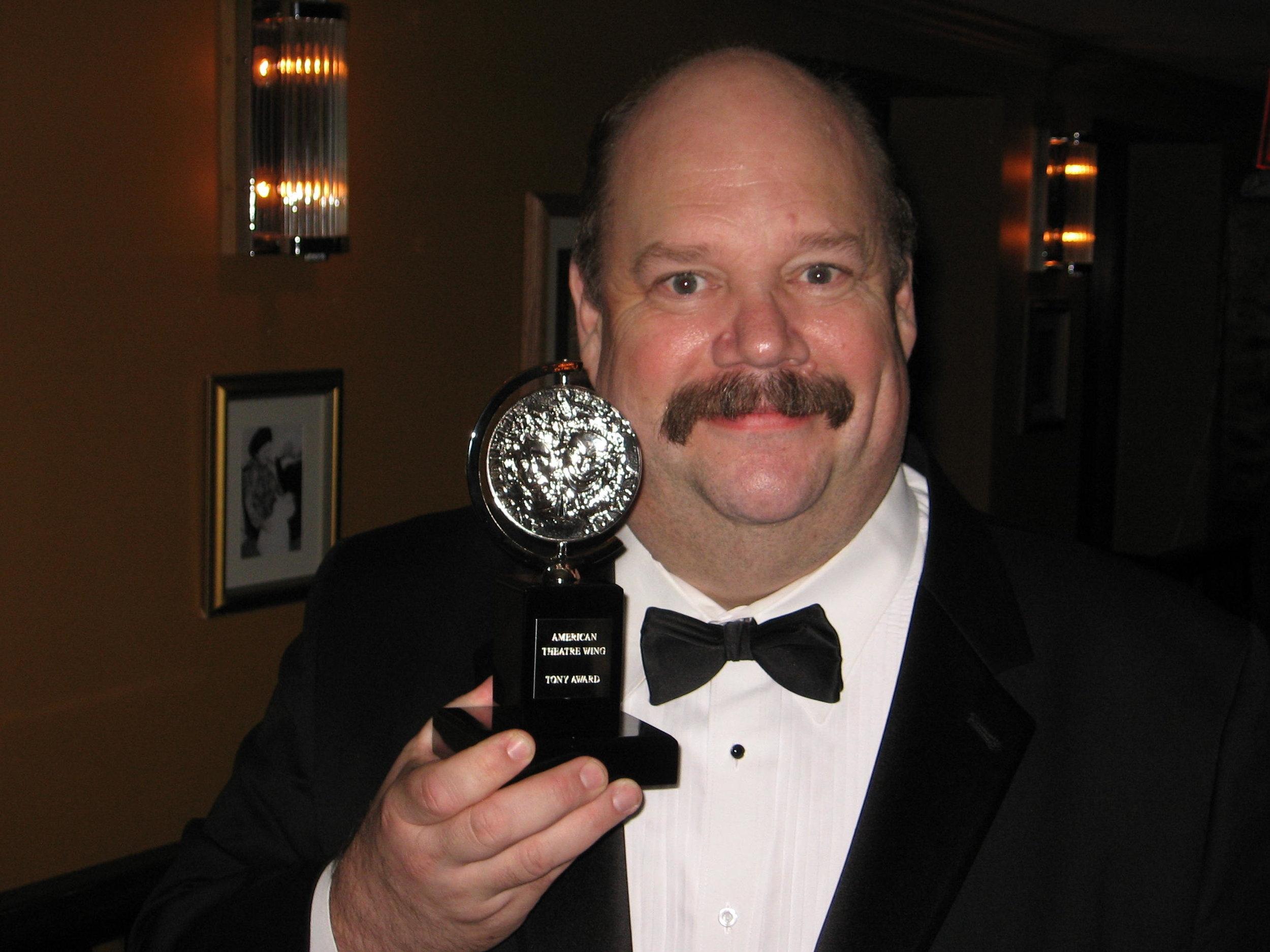 John Ahlin with Journey's End Best Revival Tony Award