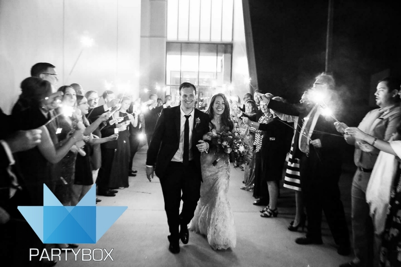 Devon Boathouse Wedding Sparkler Send Off Finale