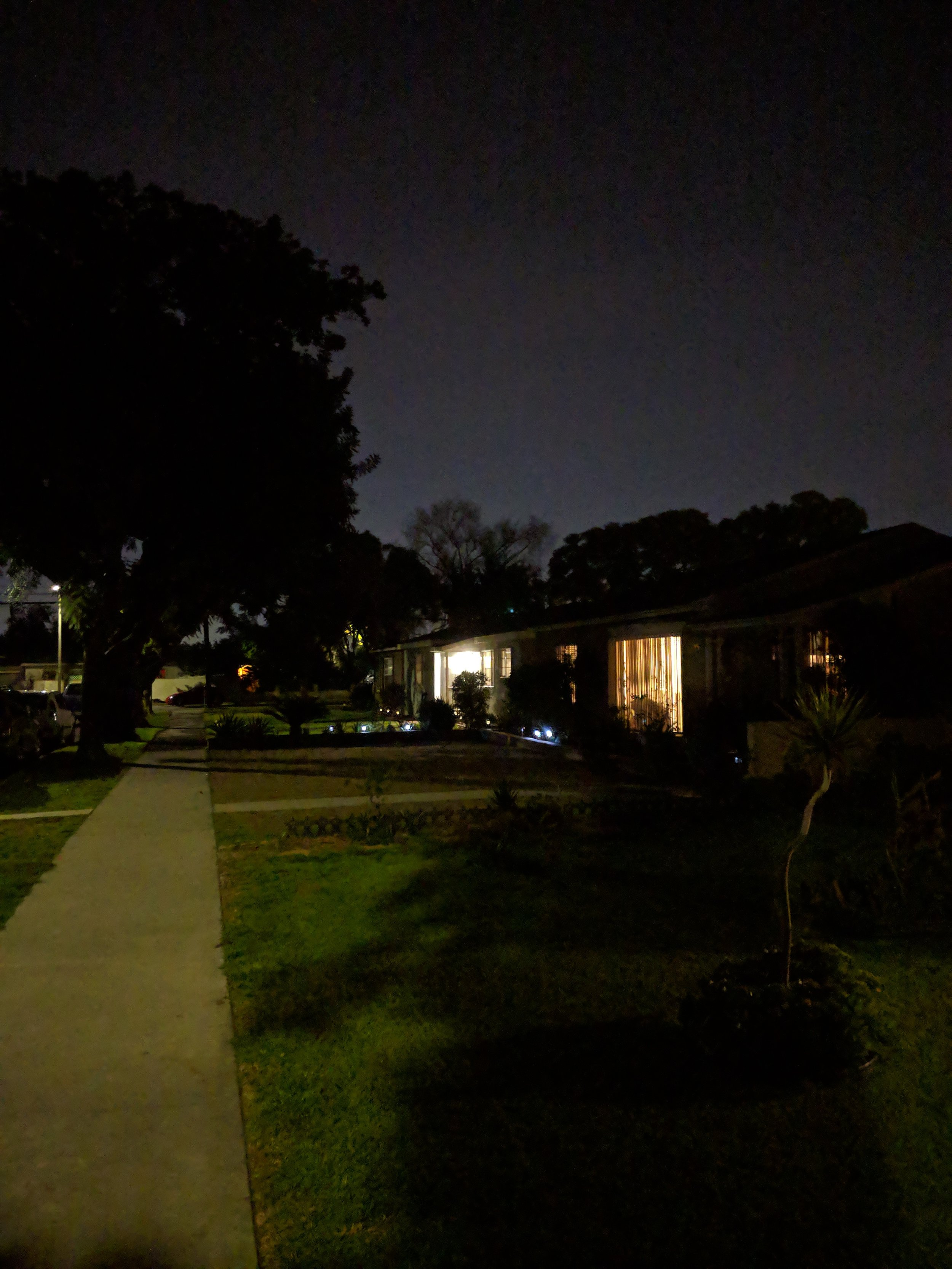 This was a regular camera shot at night.