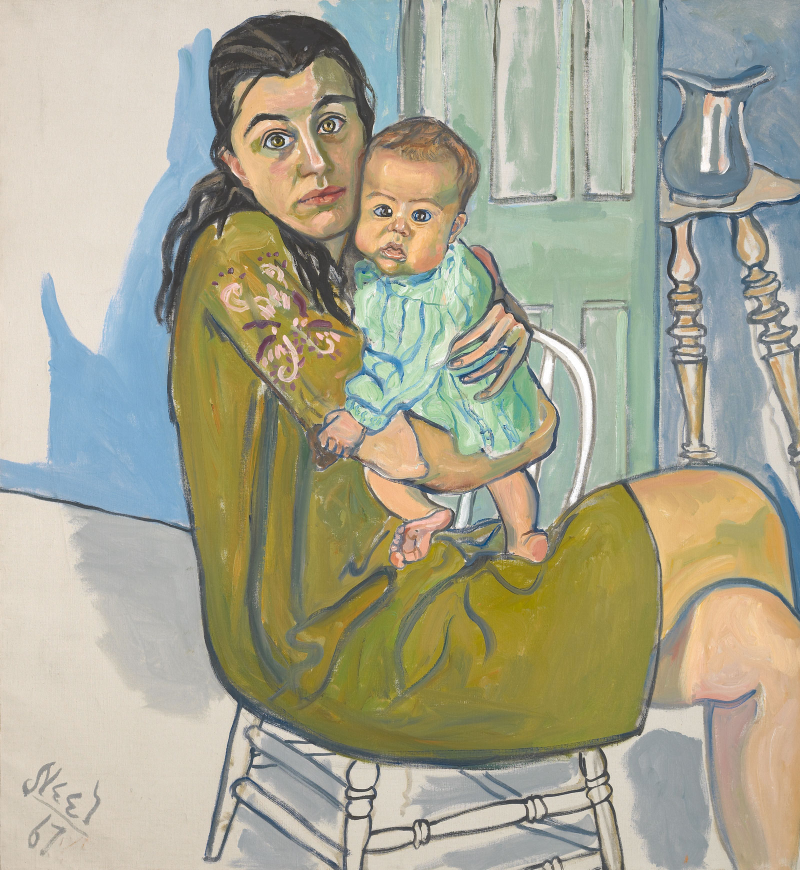 Mother and Child (Alice and Olivia) 1967, Alice Neel
